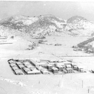Vista enlairada del barri de Sant Miquel, a Olot. Josep M. Dou Camps, ACGAX
