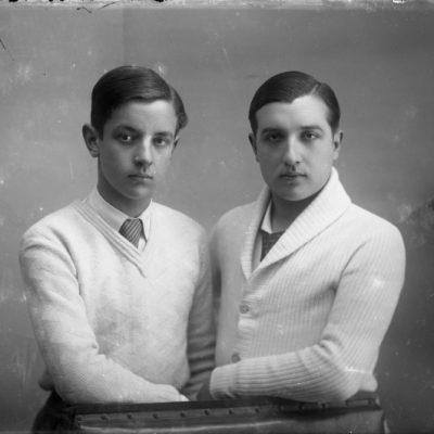 Retrat en pla mitjà dels germans Fermí i Ramon Hostench.