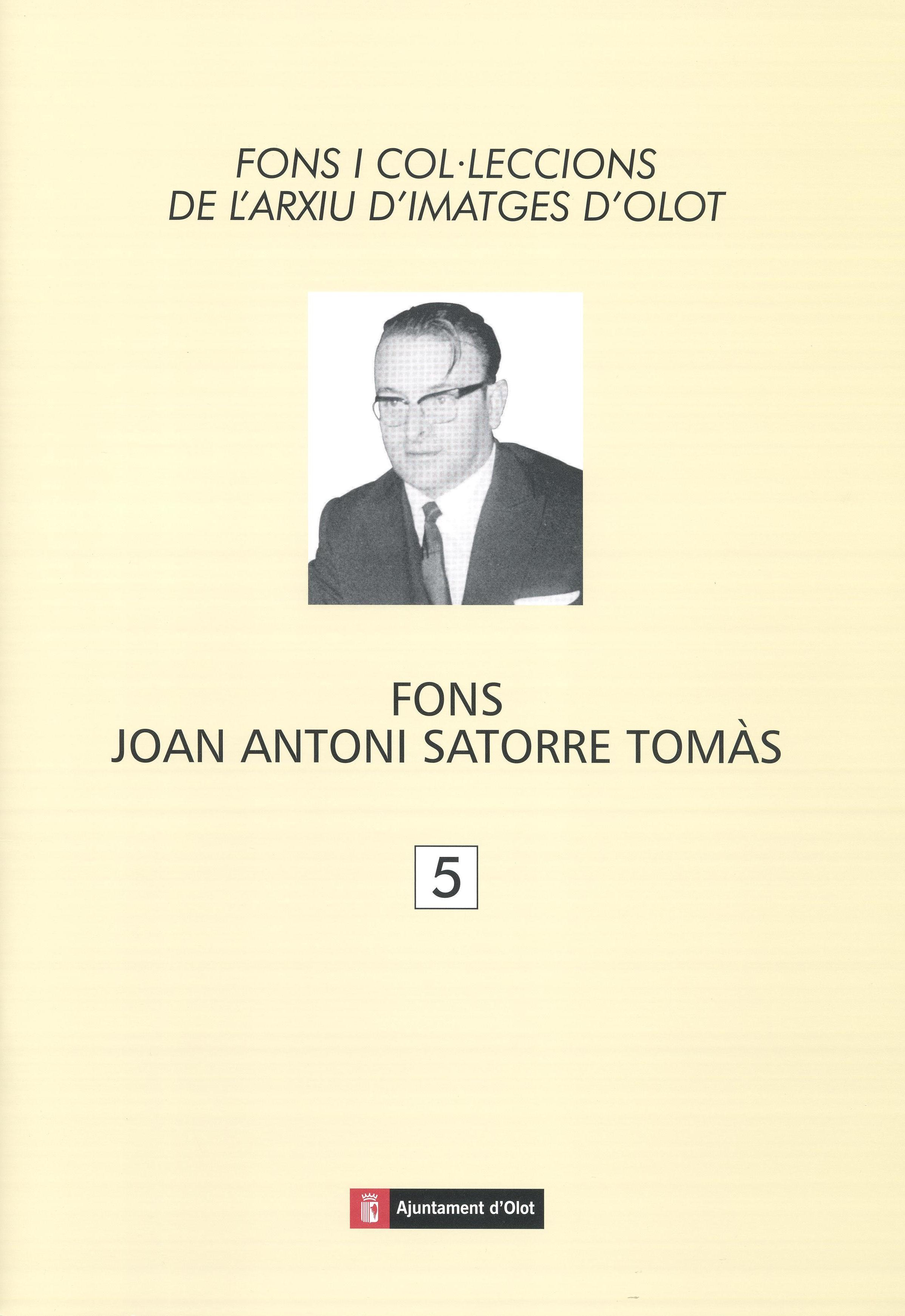 Coberta llibre Fons Joan Antoni Satorre, Servei d'Imatges de l'ACGAX