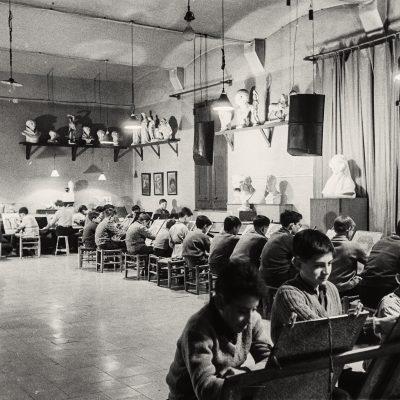 Escola de Belles Arts, a Olot. ACGAX. Emili Pujol Planagumà, c. 1955
