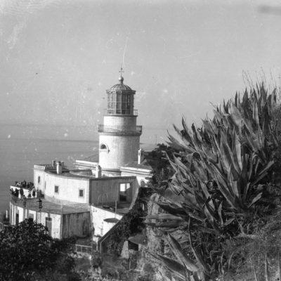 Vista general del far de Sant Sebastià, a Palafrugell.