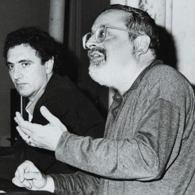 Antoni Mayans i Fernando Savater. ACGAX. L'Ateneu - Grup de debats adherit a l'Orfeó Popular Olotí, 1993