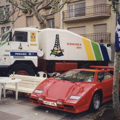 Mercat de l'automòbil nou i d'ocasió al passeig de Miquel Blay, o Firal. ACGAX. Servei d'Imatges. Fons Jaume Tané Cufí. Autor desconegut, c.1985.